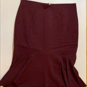 Wine mermaid pencil skirt